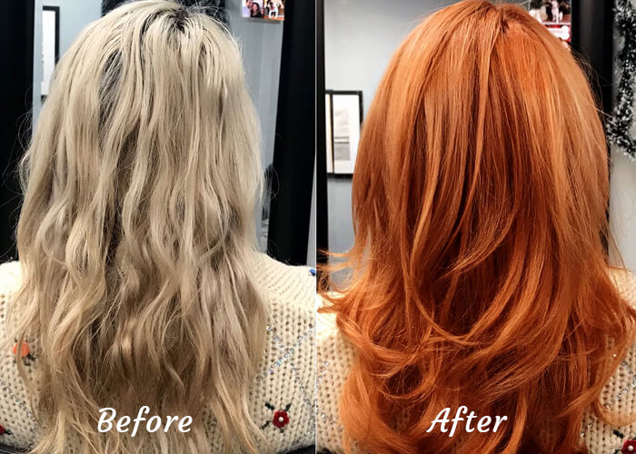 Natural Henna Color on Hair